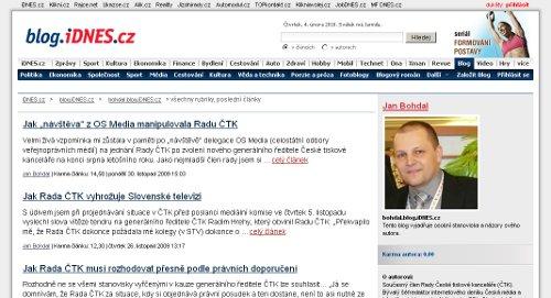 Jan Bohdal - blog iDnes.cz