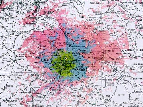 Mux 3 - pokrytí Praha 46. kanál