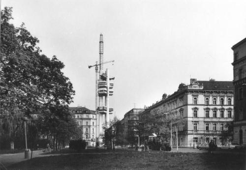 Výstavba věže Žižkov - archiv 1989