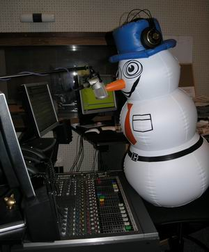 ČRo 4 Mr. Snowman studio