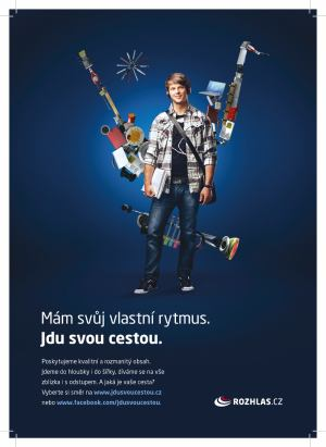 Český rozhlas - kampaň Jdu svou cestou - student