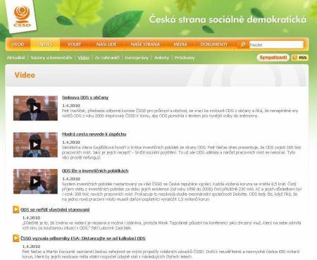 ČSSD - web