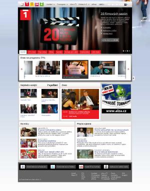 Nový web ČT - ČT 1 2011