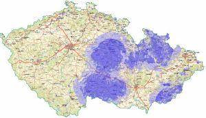 ČT 2 analog - pokrytí ČR k 29.7.2010