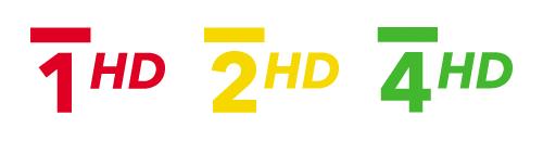 ČT 1 HD, ČT 2 HD, ČT 4 HD - loga
