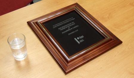 Detail plakety / certifiátu / atd Center of Excellence pro ČVU
