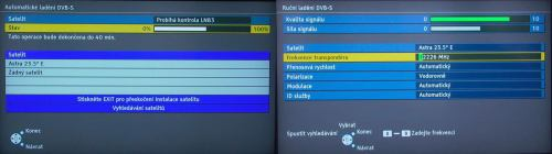 Panasonic TX-L37V10E ladění DVB-S