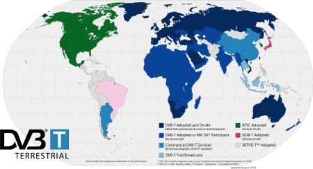 DVB-T ve světě