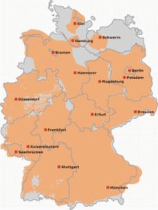 Německo T-DAB mapka pokrytí