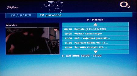 O2 TV EPG