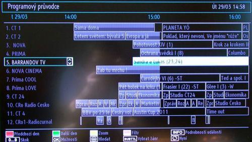 Gogen TVL32915LED - EPG tradiční náhled