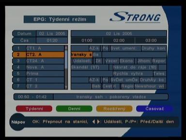 EPG týdenní (Strong SRT 5119)