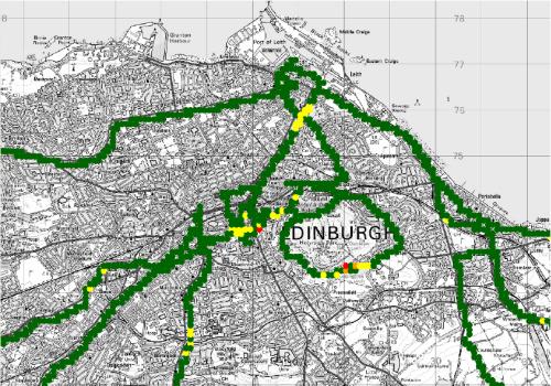 Test DRM+ v Edinburghu - E 4-QAM