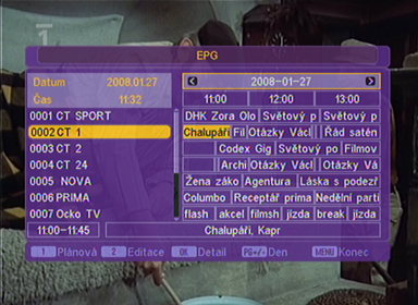 Evolve DT-1201 EPG
