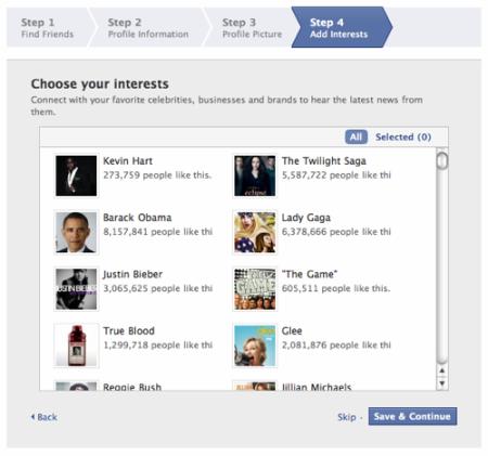 Facebook - nováčci