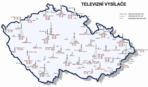 Mapa R s DVB-T vyslai a kanly - aktualizovan k 31.10.2008