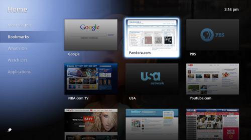 Google TV - verze pro USA