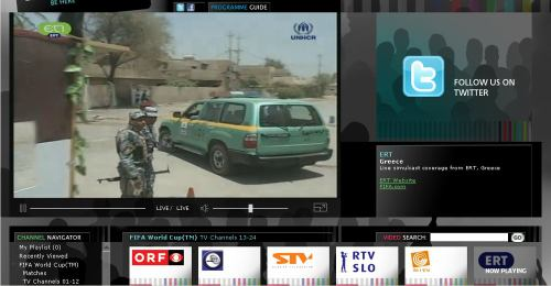 MS fotbal 2010 - web EBU stream řecká ERT