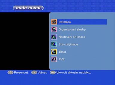 Mascom MC 1321T menu