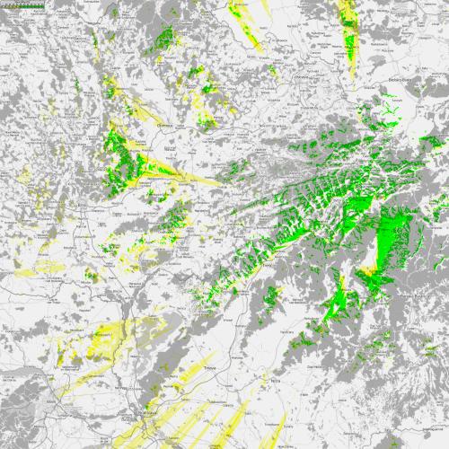 Mapa pokrytí - Žilina Krížava