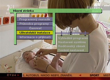 TVGo DVB-T31 menu
