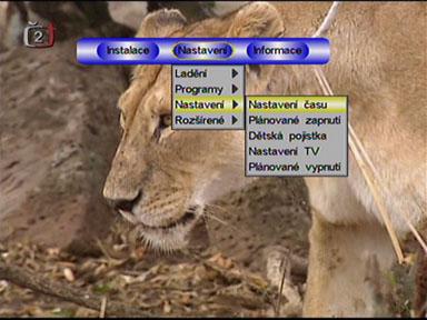 TeleSystem Zapper menu