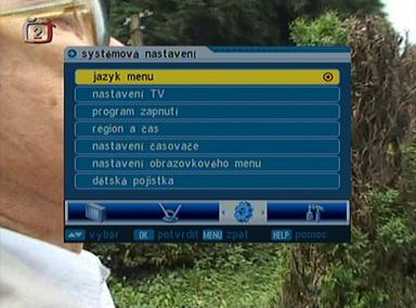 Comag SL35T menu
