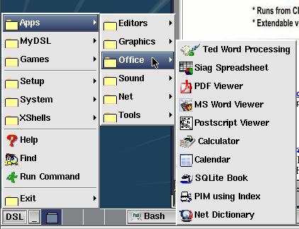 DSL menu