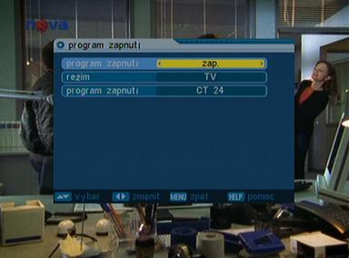 Comag SL35T menu zapnuti