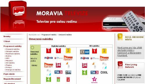 Moravia televize - web
