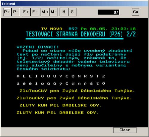 Mustek DVBT400 teletext
