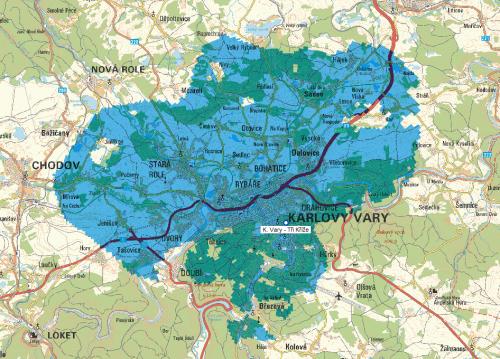 Mux 3 - pokrytí Karlovy Vary Tři kříže