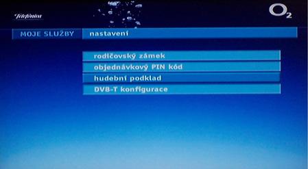 O2 TV nastaveni