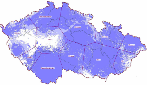 Nova analog - pokrytí ČR k 15.3.2010