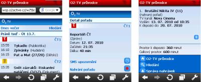 O2TV - náhrávání a mobil