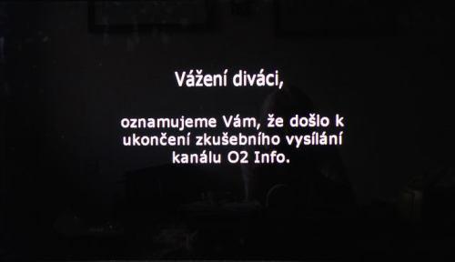 O2 Info - ukončení vysílání