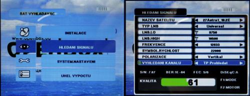 OpenBox SF-30 instal menu