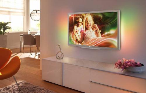 Philips 42PFL7606K na stěně