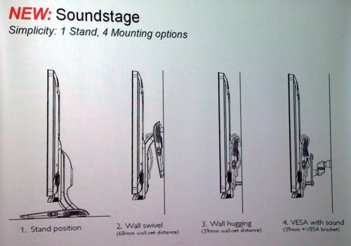 Philips 2011 - podstavec Soundstage
