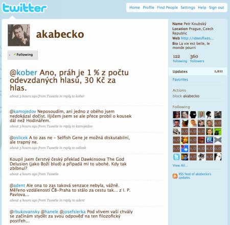 Twitter Petra Koubského