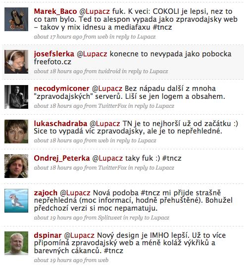Názory na Tn.cz z Twitteru
