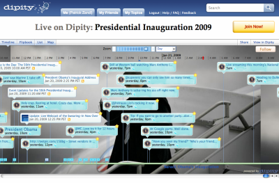 Dipity a Obamova Inaugurace