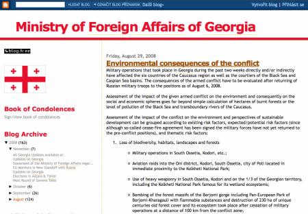 Ministerstvo zahraničních věcí Gruzie na Blogger.com
