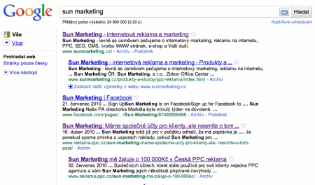 Sun marketing v google