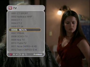 Homecast blackboxT přehled programů