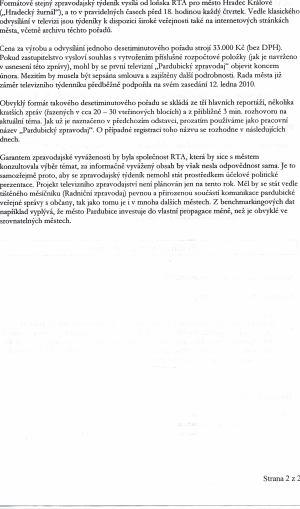 Smlouva RTA - Pardubice 2