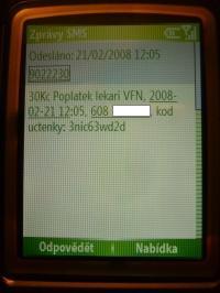 Platba přes SMS