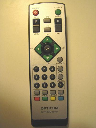 Opticum 7002T - dálkový ovladač