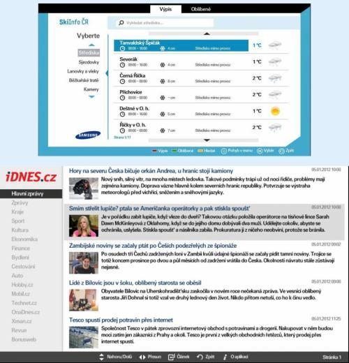 Samsung TV - nové widgety