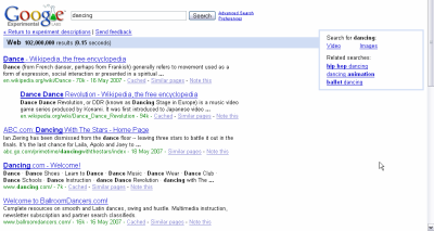 Google vpravo